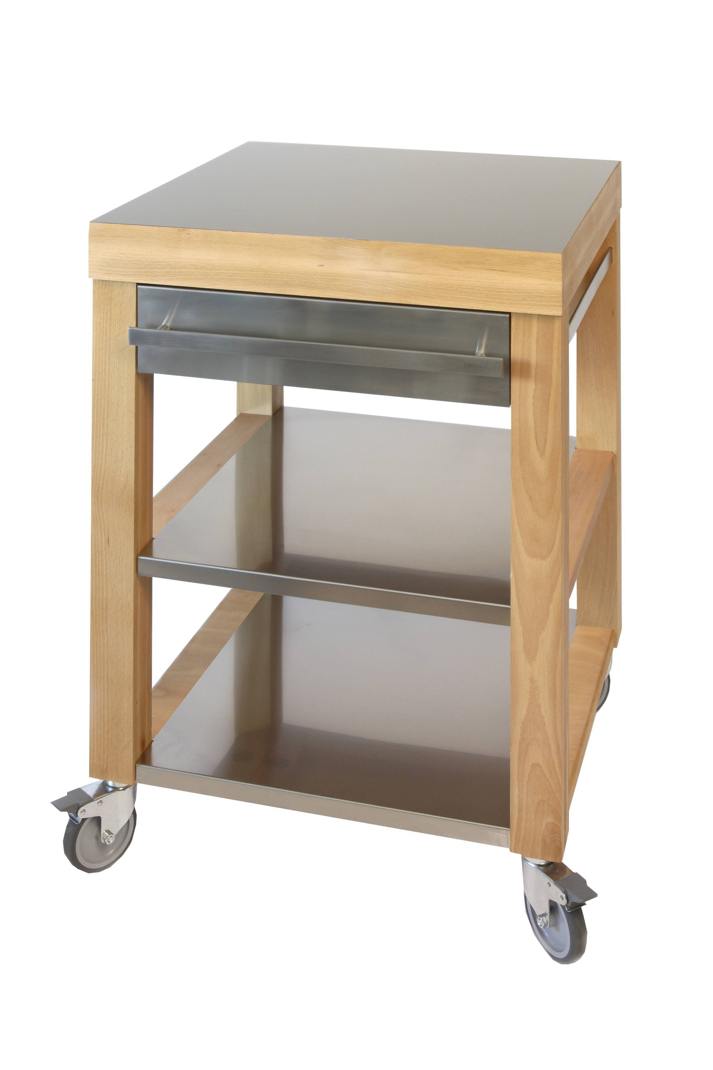 Cristel COOKMOBIL Cm Stainless Steel Top Shelves And Drawer - Stainless steel table top shelves
