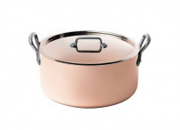 de Buyer de Buyer INOCUIVRE Copper Stewpan with lid-20