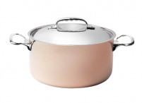de Buyer de Buyer INOCUIVRE Copper Stewpan with 2 cast stainless steel handles with lid-20