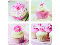 Kitchencraft Kitchencraft Set of 4 coasters with cupcake drawings-20