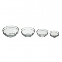 Kitchencraft Kitchencraft Set of 4 crystal bowls 6/7.5/9/10.5cm-20