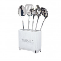 Kitchencraft Kitchencraft White Utensil Tin-20