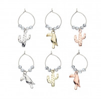 Kitchencraft Kitchencraft Set of 6 Decorative Wine Charms TROPICAL-20