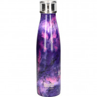 Kitchencraft Kitchencraft Water Bottle with double wall 500ml Purple/Marble Built-20
