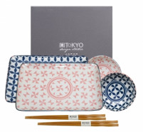 Tokyo Tokyo GEO ELECTRIC Blue/Pink Sushi Set of 6 pieces-20