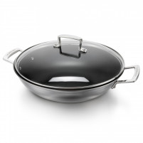 Le Creuset Le Creuset 3ply Stainless Steel Wok 30cm with glass lid-20