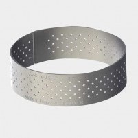 de Buyer de Buyer Straight edge perforated tart ring in stainless steel Round-20