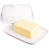 Kitchencraft Kitchencraft White porcelain butter dish-20
