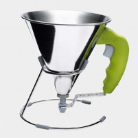 de Buyer de Buyer Mini stainless steel piston funnel 0.8 L Green-20