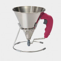de Buyer de Buyer Mini stainless steel piston funnel 0.8 L Fucsia-20