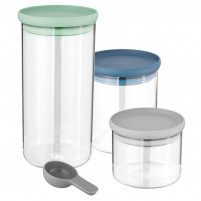 Berghoff Berghoff Set 3 pc glass container LEO-20