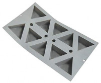 de Buyer de Buyer Silicone mold for 10 triangles-20