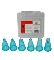 de Buyer de Buyer Set of 6 nozzles made of blue transparent tritan-20