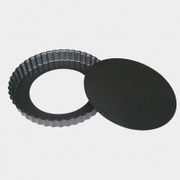 de Buyer de Buyer Round fluted tart mould with removable bottom Straight edge Ø 24cm-20