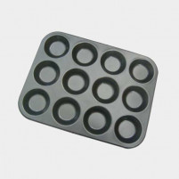 de Buyer de Buyer Tray of individual moulds 12 round tartlets-20