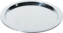 Alessi Alessi Round tray with graphic pattern in 18/10 stainless steel glossy-20