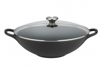 Le Creuset Le Creuset Cast Iron black Wok with lid-20
