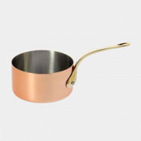 de Buyer de Buyer Small saucepan in copper-stainless steel with brass mounts-20