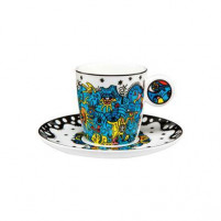 Billy the artist Billy the artist Taza con plato de Porcelana Celebration Deep sea-20