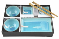 Tokyo Tokyo GLASSY TURQUOISE Sushi Set of 8 pieces-20