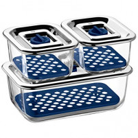 WMF WMF Storage and Serving Containers with Drainage Grille Set of 3-20