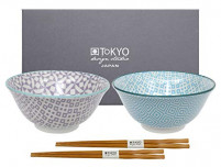 Tokyo Tokyo GEO ELECTRIC Set of 2 Bowls Light Blue/Purple-20