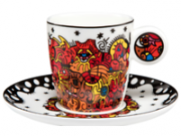 Billy the artist Billy the artist Taza con plato de Porcelana Celebration Sunrise-20
