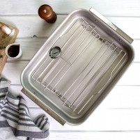 Cristel Cristel COMPLEMENTS Baking tray with handles and steel grid-20