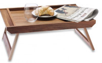Ecplus Ecplus Walnut Wood Serving tray with legs-20