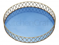 Kitchencraft Kitchencraft BarCraft Stainless Steel Blue and Brass Finish Serving Tray-20