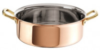 Ruffoni Ruffoni PLAIN COPPER Braiser with lid 26cm-20