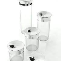 Bugatti Bugatti Set 5 Pieces Glass Jar with Lid Acqua-20