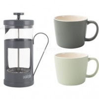 Kitchencraft Kitchencraft Grey coffee set and two cups-20
