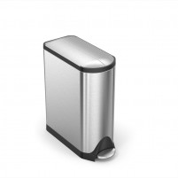 Simplehuman Simplehuman 45L Butterfly Step Trash Stainless-Steel-20