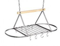 Kitchencraft Kitchencraft KitchenCraft Industrial Kitchen 81cm Ceiling Mounted Pot Rack-20