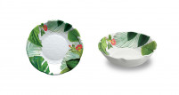 Touch Mel Touch Mel Soup Plate Set of 2 unid. Floral YORK-20