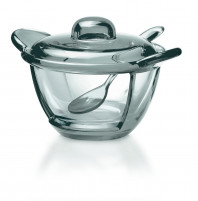 Guzzini Guzzini GOCCE Grey Server Bowl with teaspoon-20