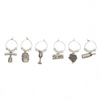 Kitchencraft Kitchencraft Set of 6 Decorative Wine Charms-20
