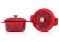 Woll Woll Set of 2 cast iron mini pot red chili-20