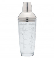 Kitchencraft Kitchencraft glass shaker with Boston meters 700ml-20