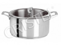 Cristel Cristel CASTELINE FIXE Stew Pan with Flat Glass Lid 24cm-20