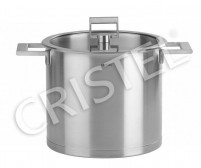 Cristel Cristel STRATE FIXE Stock Pot with Flat Glass Lid 22cm-20