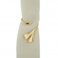 Blue Leaves Blue Leaves Gold Plated Napkin Ring FERN-20