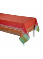 Le Jacquard Francais Le Jacquard Francais Coated Tablecloth Bastide Red Pepper 175x175cm-20