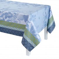 Le Jacquard Francais Le Jacquard Francais Coated Tablecloth Jardin de Paradis Light Blue 175 x 320cm-20
