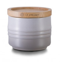 Le Creuset Le Creuset Grey Sugar bowl with wood lid-20