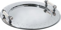 Alessi Alessi Round tray with white handles-20