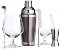 Kitchencraft Kitchencraft Set Gin Shaker 400ml with utensils-20