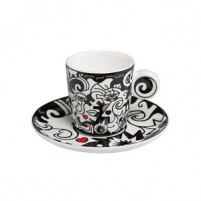 Billy the artist Billy the artist Taza con plato de Porcelana TWO IN ONE-20