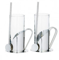 Kitchencraft Kitchencraft Set 2 tall coffee cups with spoon-20